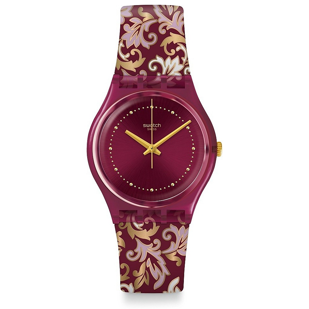 SWATCH WATCH, WOMEN'S FLORAL PATTERN GR179