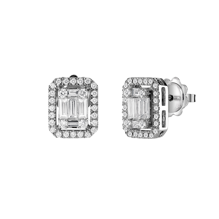SALVINI Earrings white gold and diamonds ct 0.75 in Magic