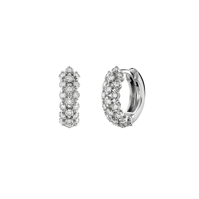 SALVINI Earrings white gold and diamonds ct 0,30 Cashimire 20085378
