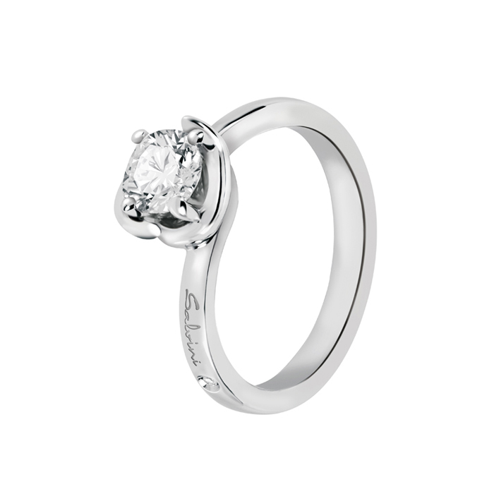 SALVINI solitaire Ring white gold with diamonds ct 0,18 20062771