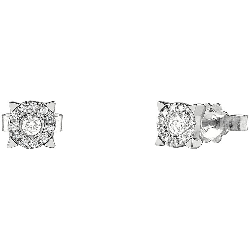 Bliss Earrings white gold Lumina with diamonds ct 0.14 in 20077819
