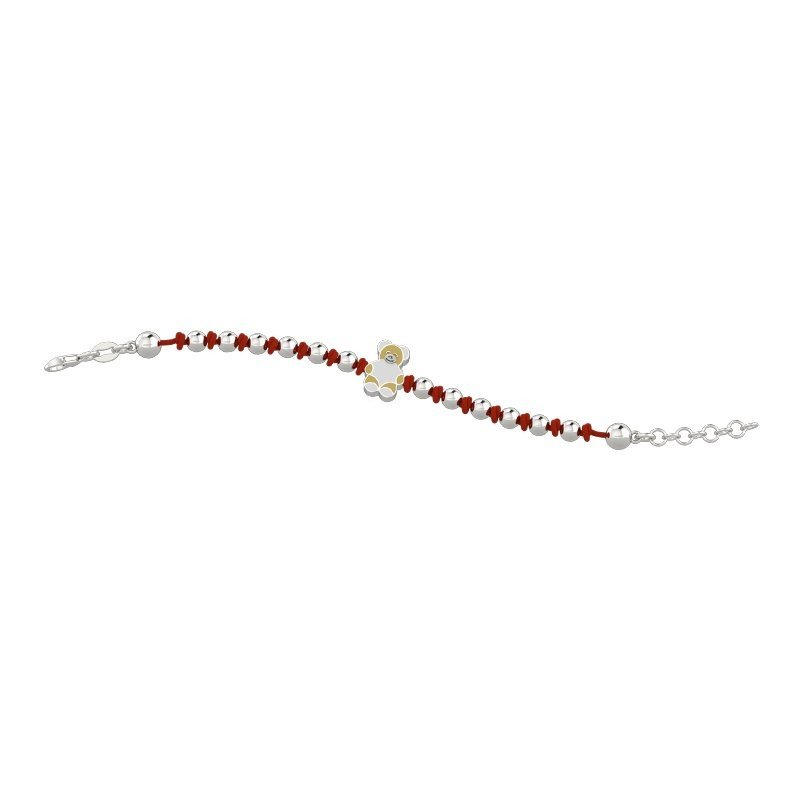 NANAN Bracelet Tato with small red and silver beads NAN0070