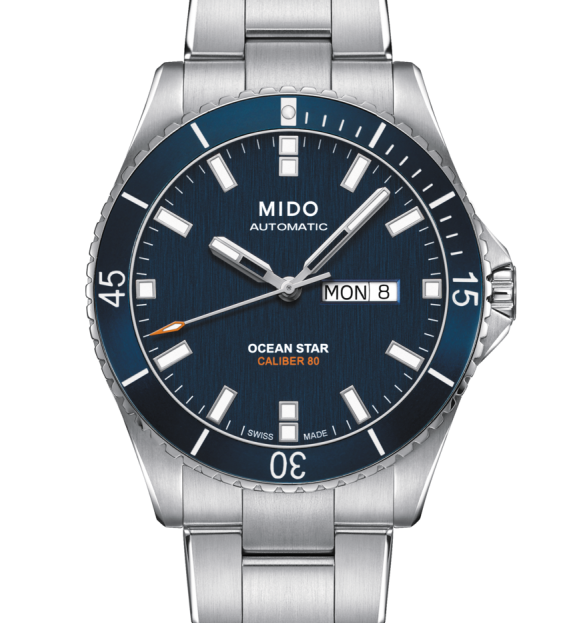 MIDO Watch steel man, the Ocean Star, quadr.Blue M026.430.11.041.00