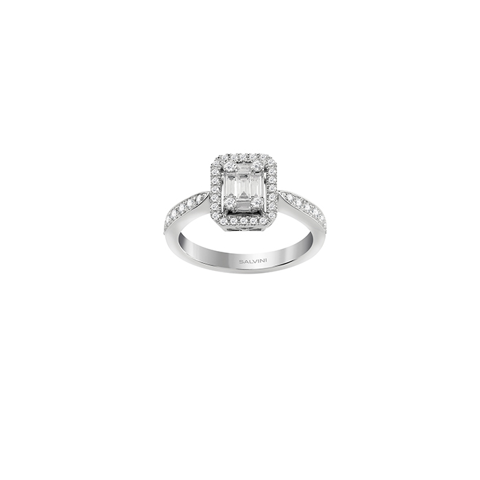 SALVINI Ring white gold and diamonds ct 0.55 and Collection Magic 20085782