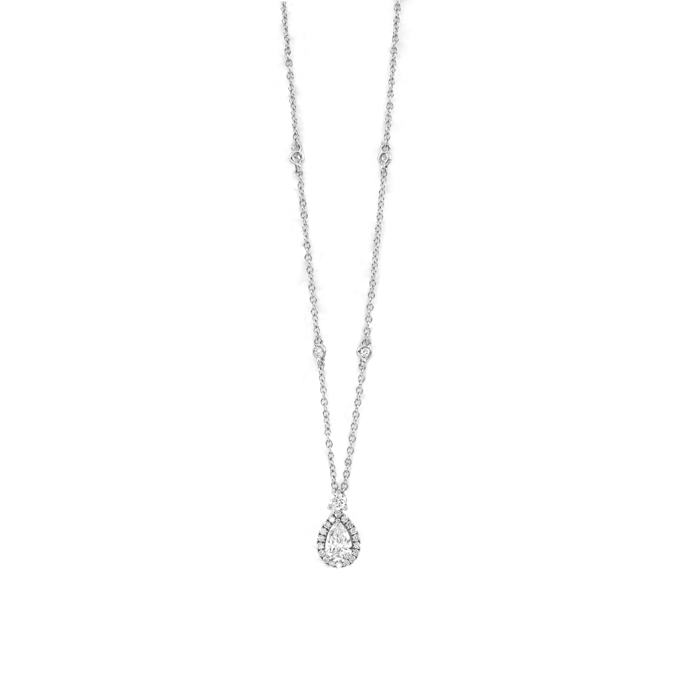 SALVINI Collierino en or blanc et diamants ct 0,77 Collection Lauren 20085782