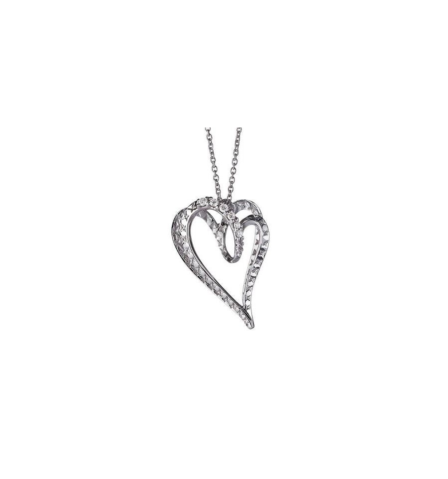 Alfieri St. John necklace white gold and diamonds with a heart symbol Ref.027990029685