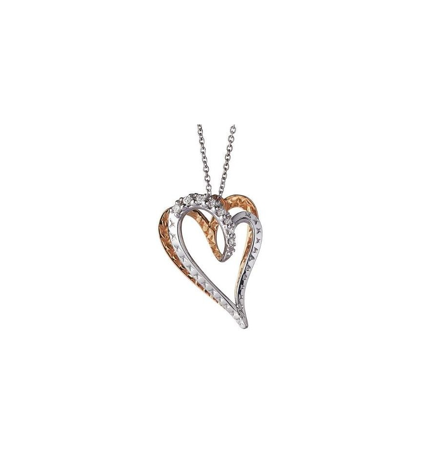 Alfieri St. John necklace gold with heart symbol with diamonds Ref.027990029686
