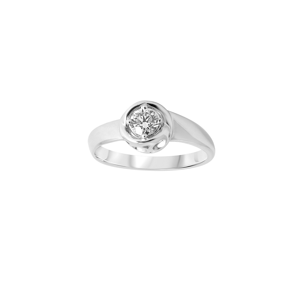 Alfieri and St. John Ring solitaire white gold and diamond ct 0,08 Ref.027990061154