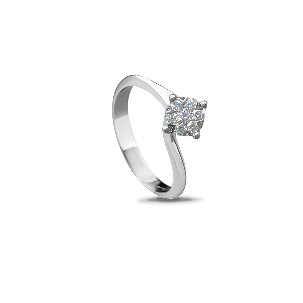 Alfieri St. John's solitaire Ring white gold and diamonds ct 0,29 Ref.027990058456