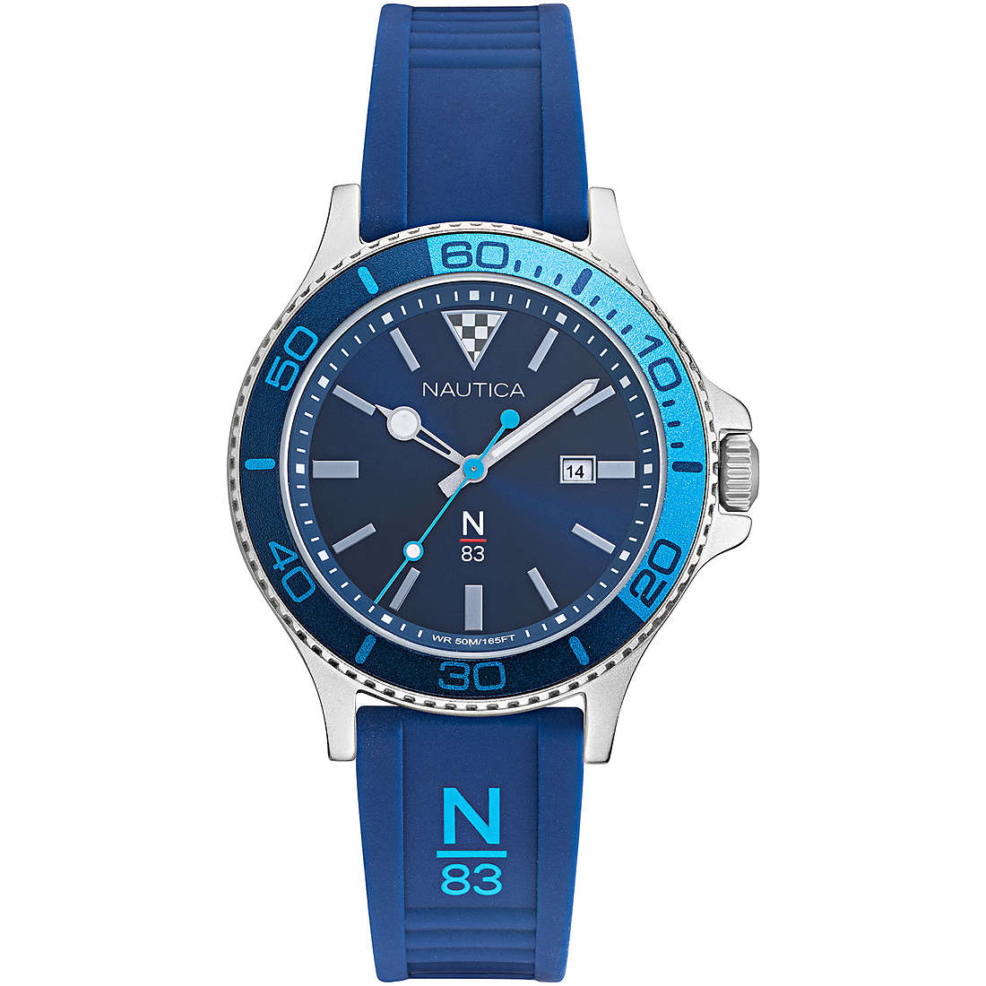 Nautica Watch Only Time Man N83 blue strap NAPABS020