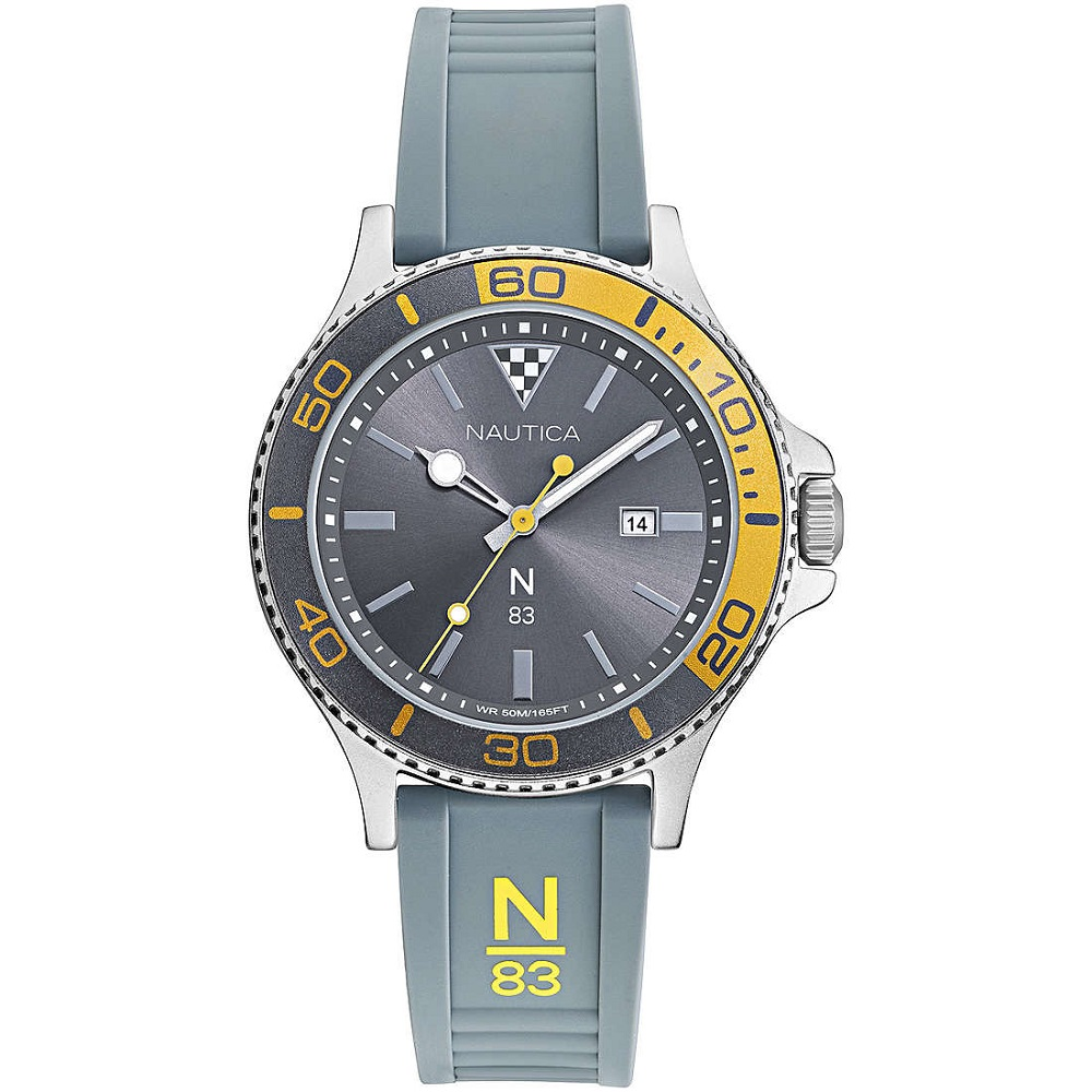 Nautica Watch Only Time Man N83 strap grey NAPABS021