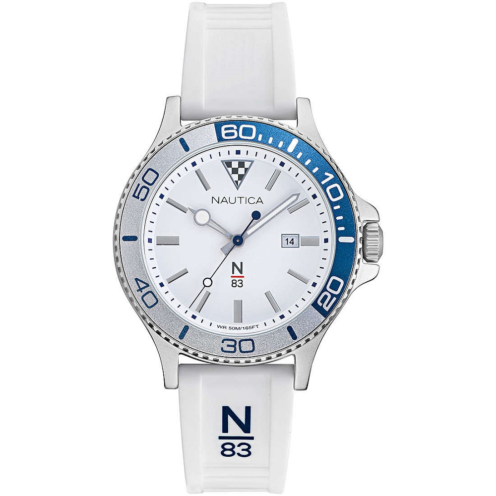 Nautica Watch Only Time Man N83 white strap NAPABS022