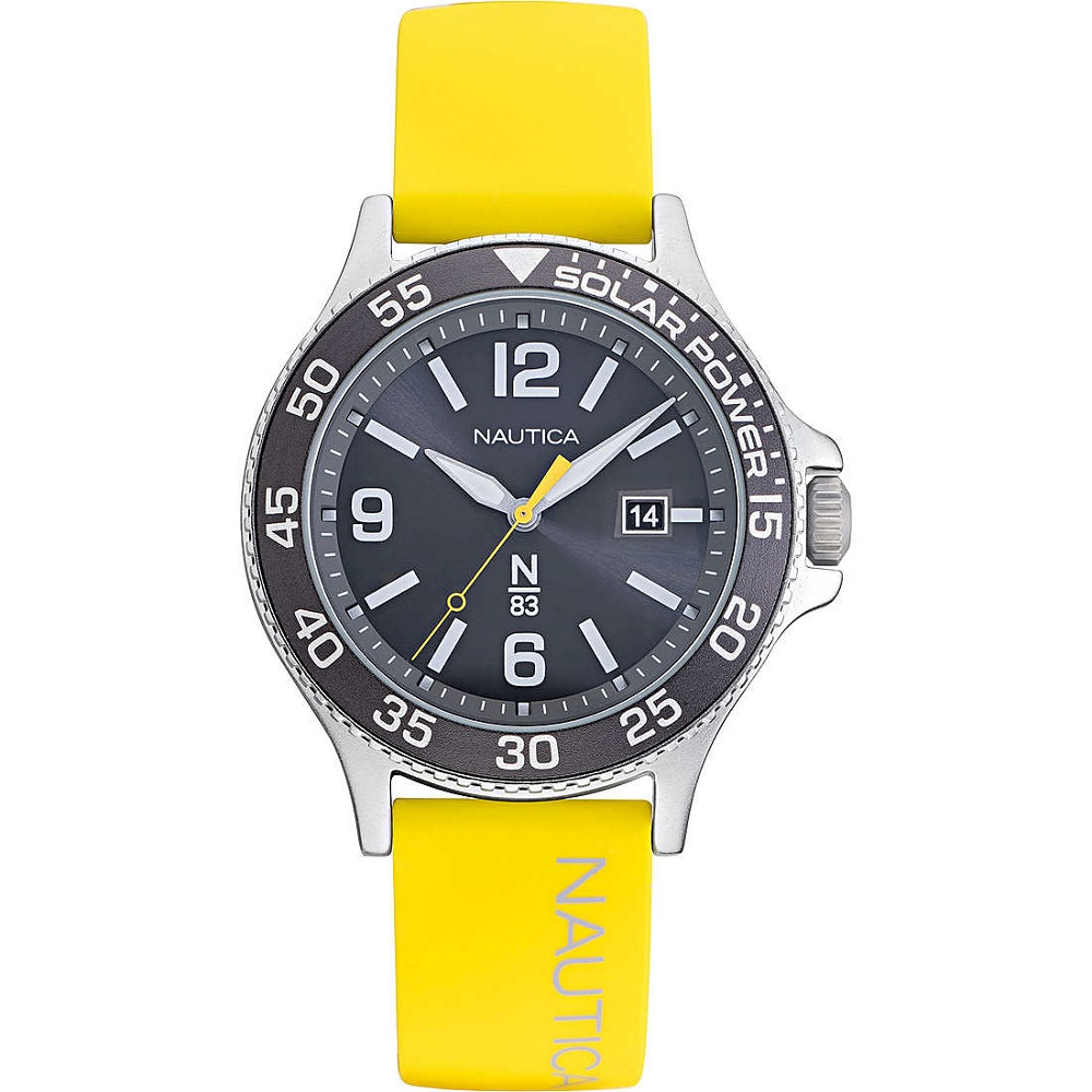 Nautica Watch Only Time Man strap yellow NAPCBS023