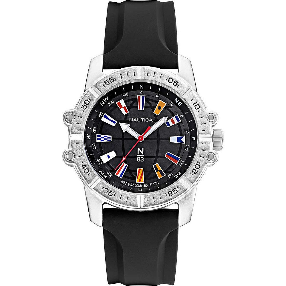 Nautica Watch Only Time Man with double strap white and black NAPGCS006