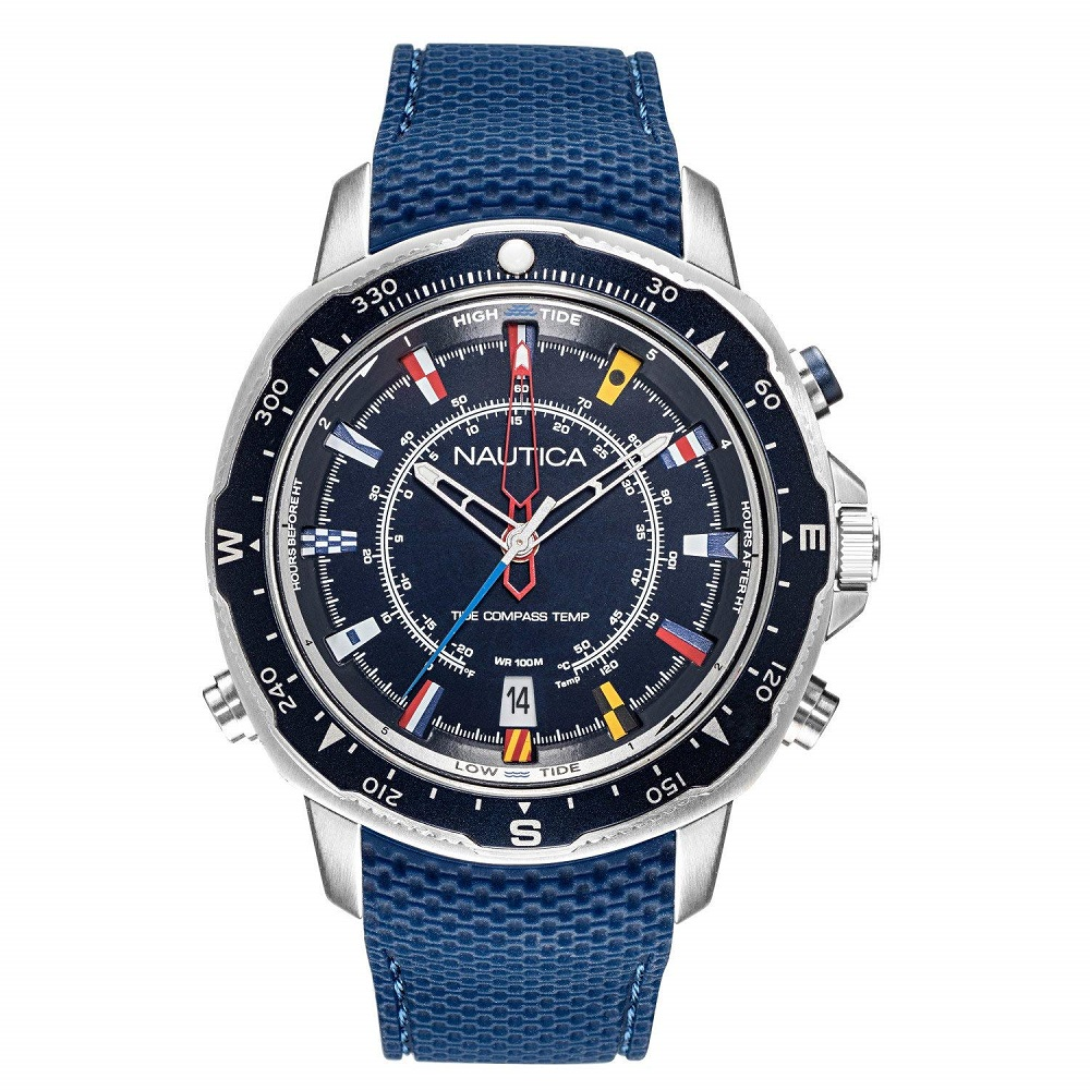 Nautica Watch Only Time UomoSoledad South blue strap NAPSSP902