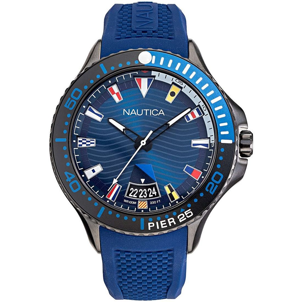 Nautica Watch Only Time Man strap and blue dial NAPP25F08