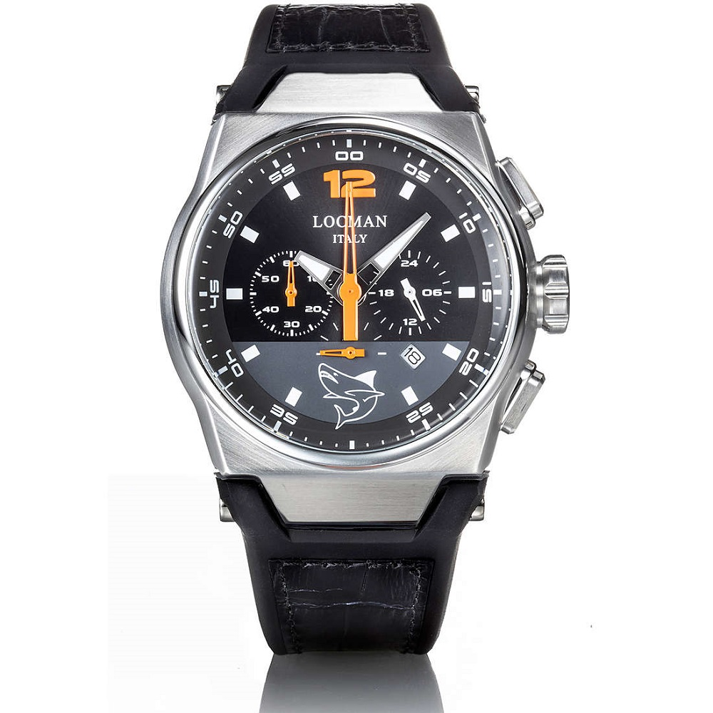 Locman Chronograph Man With Steel Case And black Titanium 0555A01S-00BKORGPK