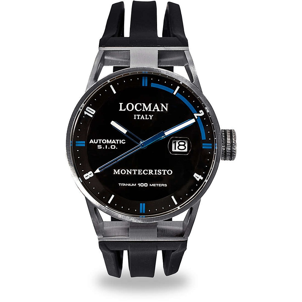 Locman Automatic Watch Men's stainless Steel Case And Titanium 051100BKFBL0GOK