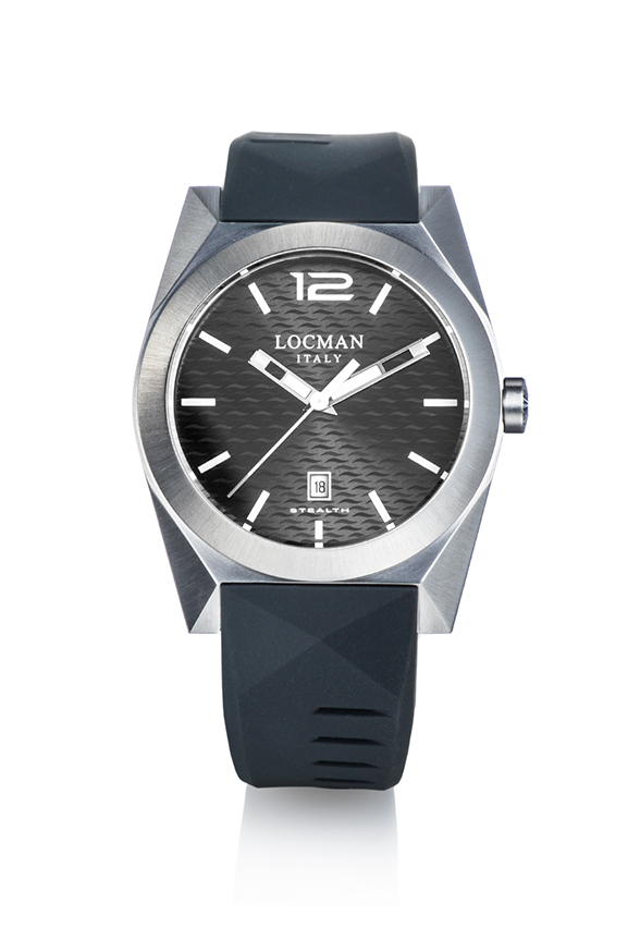 Locman Man Watch case steel/titanium quadr. Black 0810A07S-00GYWHSK
