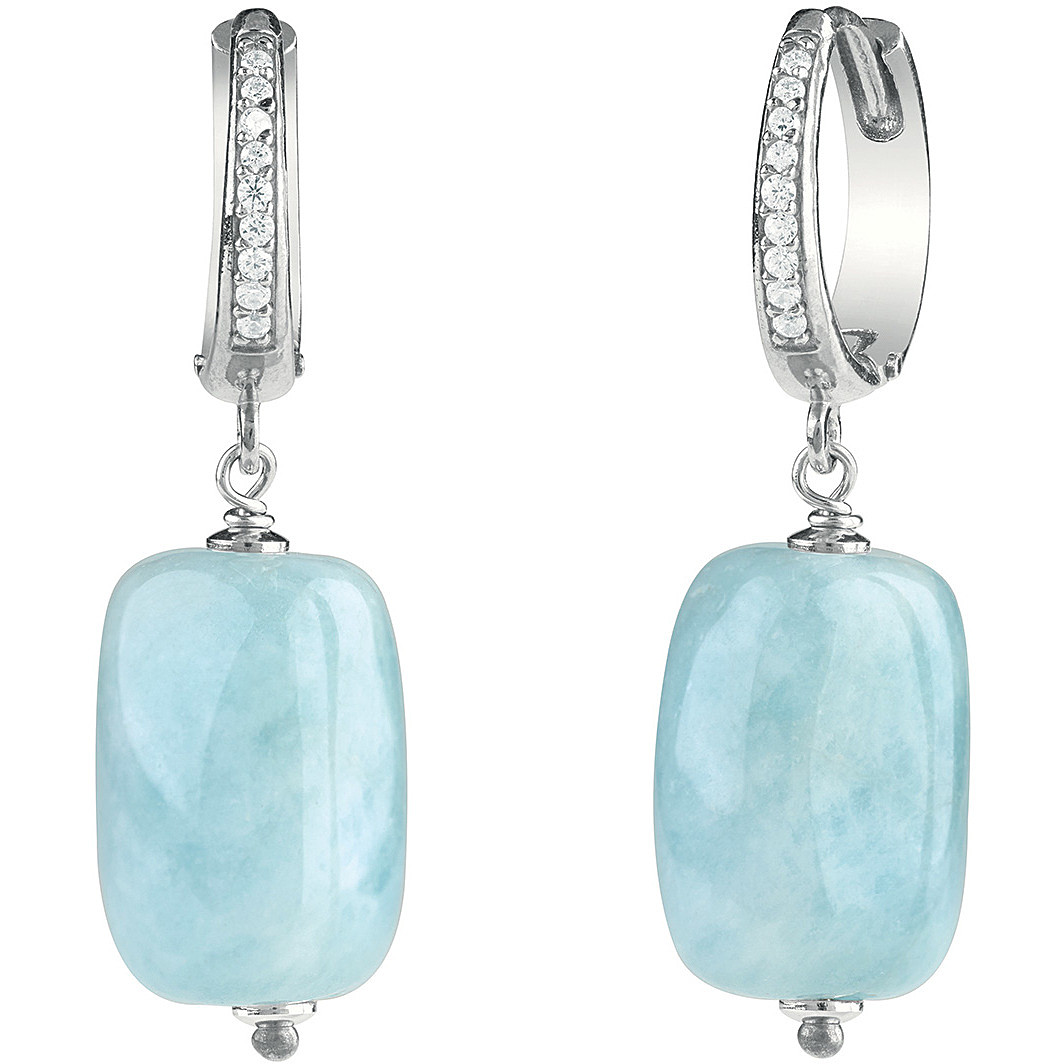 Bliss Earrings In Sterling Silver With Cubic Zirconia And Semi-Precious Stones 20084441