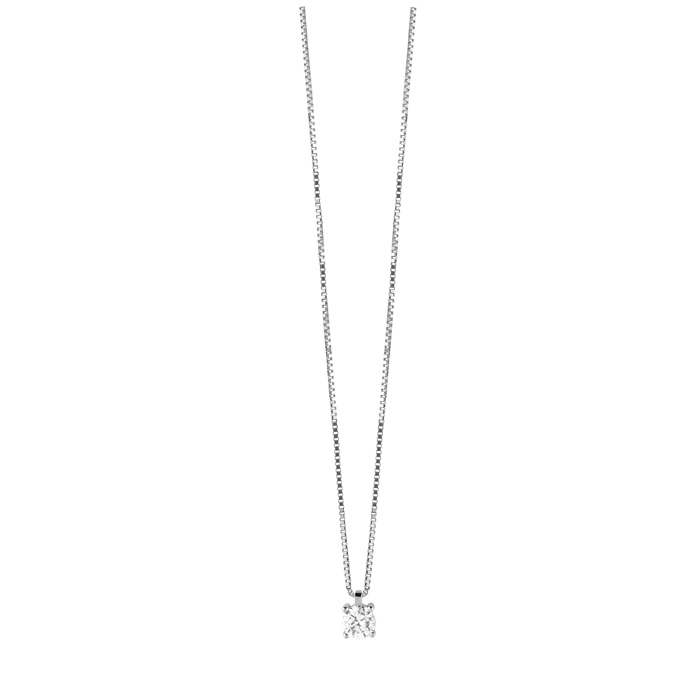 Bliss necklace silver and cubic zirconia 7 mm 20084481