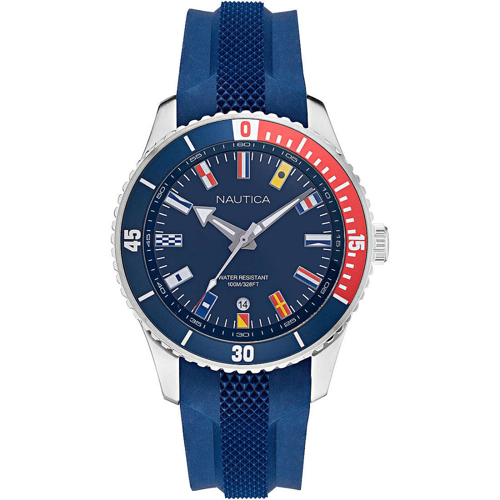 Nautica Watch Only Time Man With the flags in the dial NAPPBS038