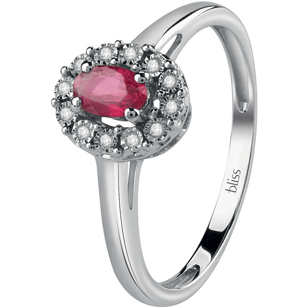 Bliss Ring white gold brill.and ruby 20085211