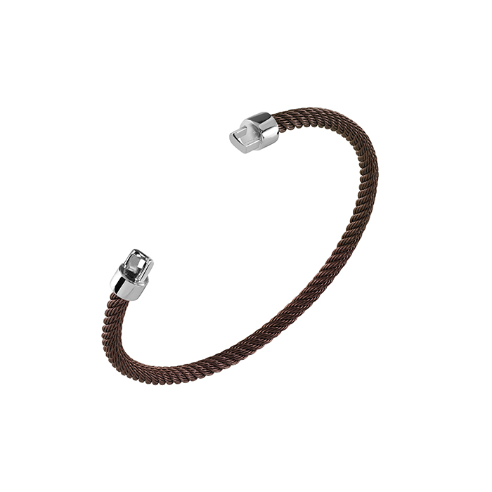 Salvini Bracelet burnished brown and silver 20085450