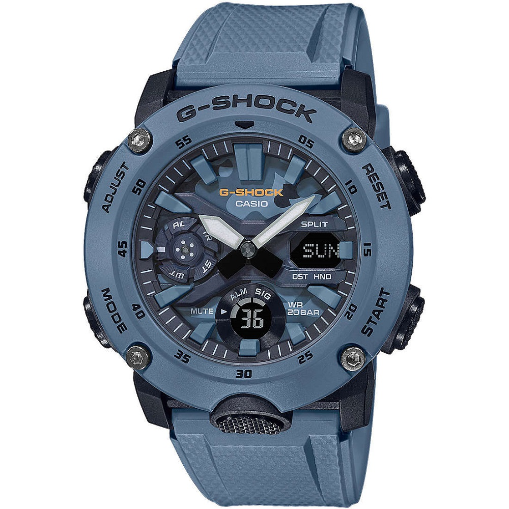 CASIO multifunction watch man resin color BLUE GA-2000SU-2AER
