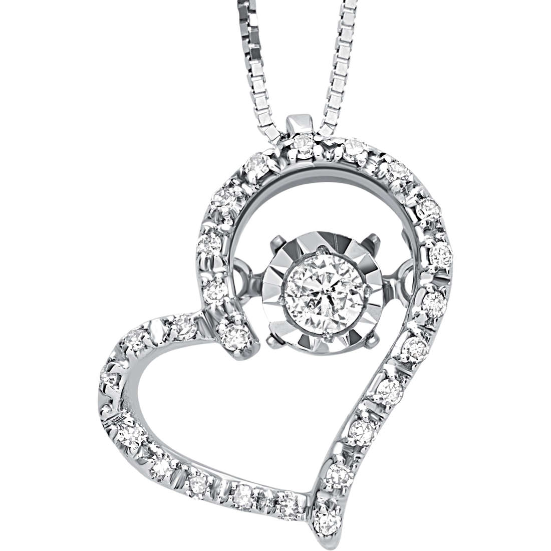 Bliss necklace white gold and diamonds heart symbol 20069845