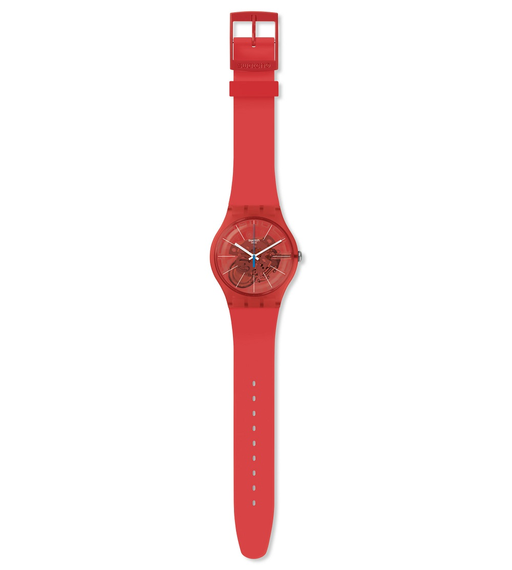 Swatch woman watch silicone orange SUOO105