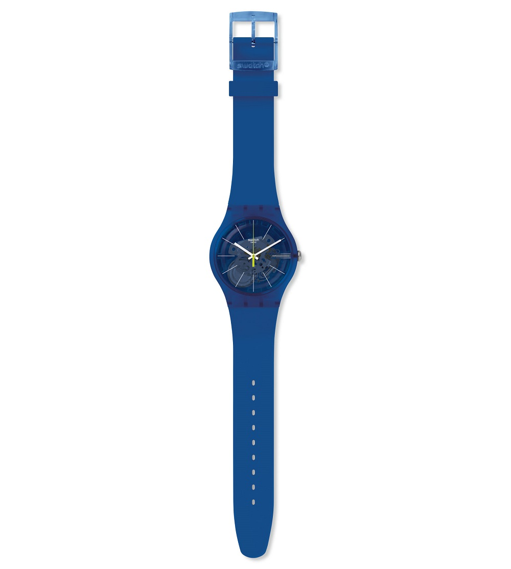 Swatch watch women silicone color blue SUON142