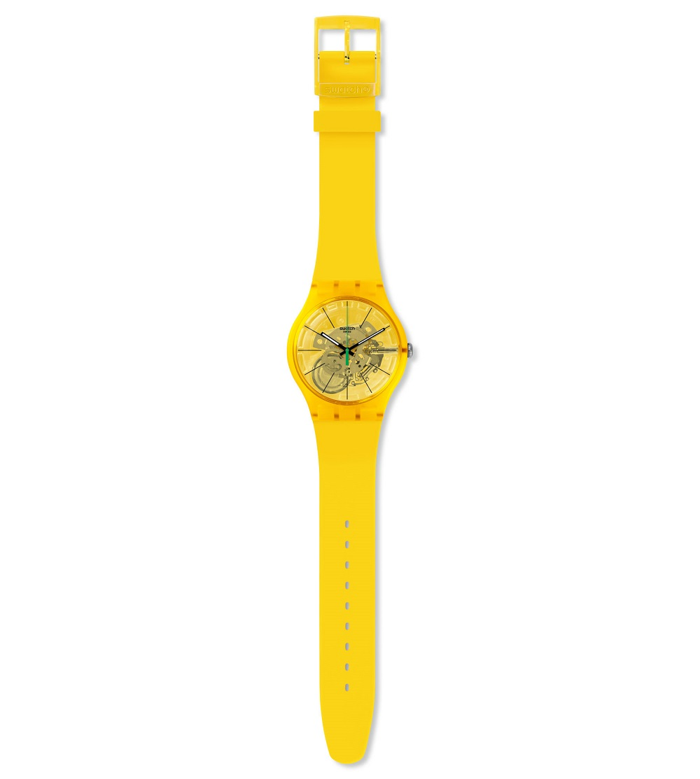 Swatch woman watch silicone yellow lemon SUOJ108