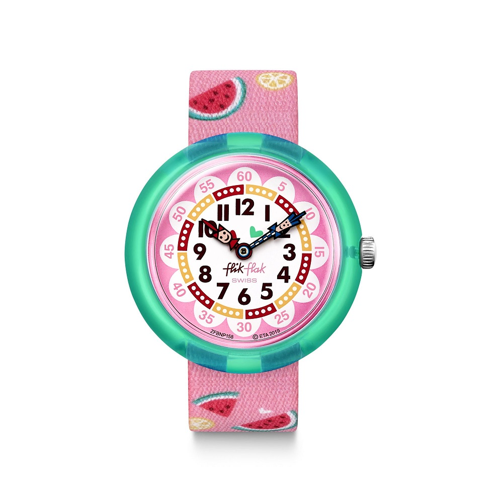 FLIK FLAK watch child with the reason of watermelon on the strap FBNP158