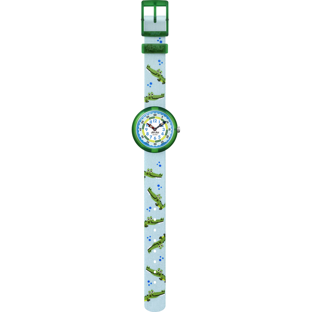 FLIK FLAK watch a child with crocodile motif on the strap FBNP153