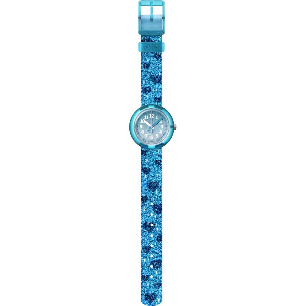 FLIK FLAK watch a child with a motif of hearts on the strap FPNP064