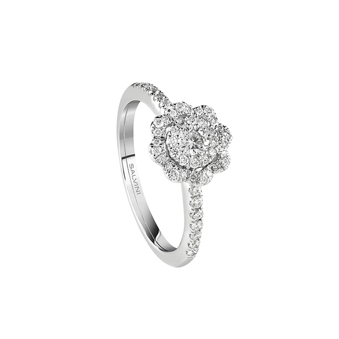 Salvini ring white gold and diamonds ct 0,45 20087101