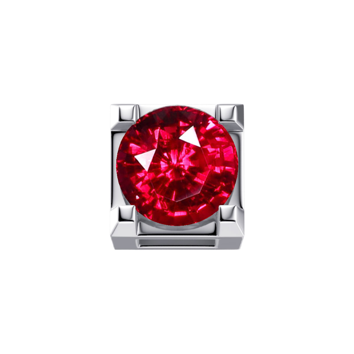 ELEMENTS DESIGNER-weissgold RUBIN 0,05 ct DCHR7244