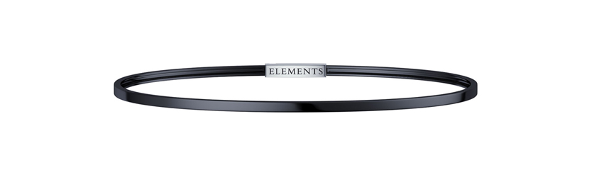 ELEMENTS BRACELET IN BURNISHED SILVER CLOSURE STEEL DFBF4110