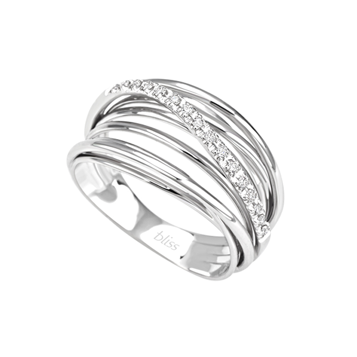 Bliss Ring in white gold with brilliant mis. 15 Ref. 20072060