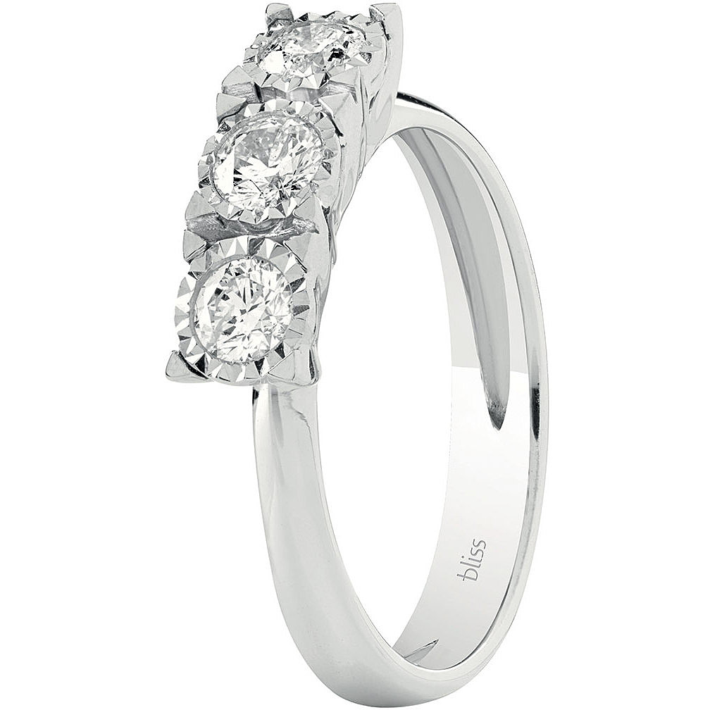 Bliss trilogy ring white gold and brilliant 20075768
