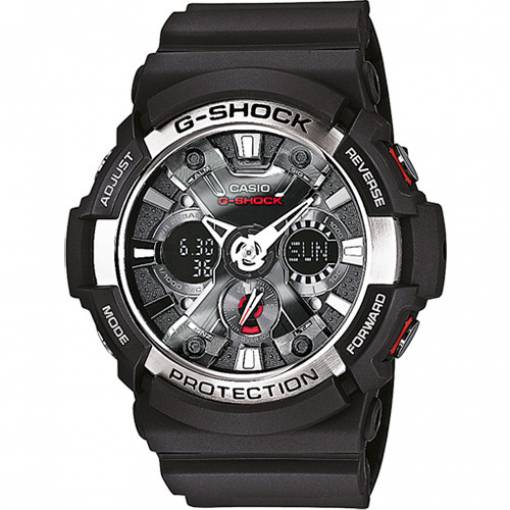 CASIO G-shock mens watch black alarm calendar alarm GA-200-1AER