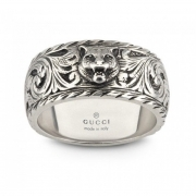 GUCCI ring man SILVER silver cat tiger engraved mis. 24 YBC433571001
