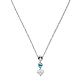 GUCCI necklace woman silver heart and blue topaz YBB325871001