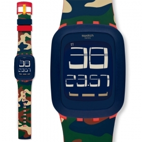 Watch SWATCH digital TOUCH, multi-function camouflage DESERT STORM SURR104 39mm
