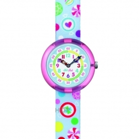 Flik Flak Swatch watch small girl child candy SUGAR BUNCHY FBNP064