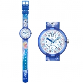 Flik Flak Swatch watch girl DISNEY FROZEN ELSA OLAF FLNP023