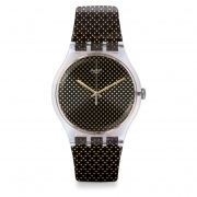 Woman watch SWATCH black dots GRIDLIGHT SUOK119 case 41mm