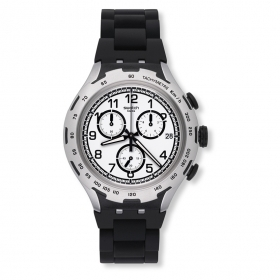 Chronograph watch SWATCH black man BLACK ATTACK YYS4020AG case 45mm