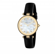 GUCCI woman watch DIAMANTISSIMA black and mother-of-pearl 32mm YA141404